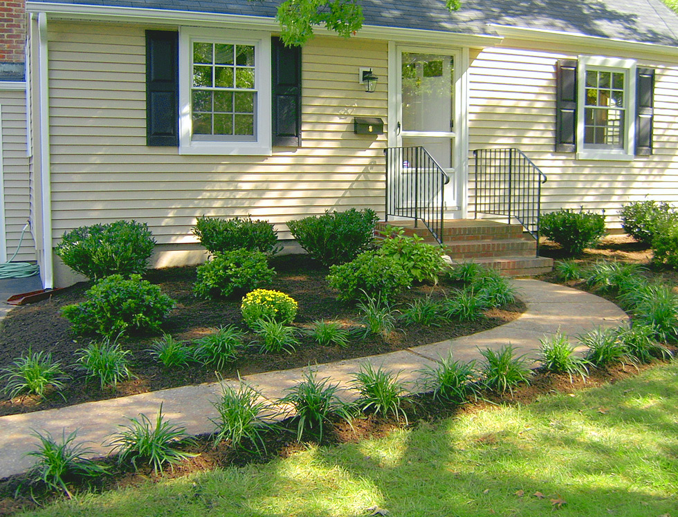 The Front of the House – AFTER 1  A amp; J Landscape Design, LLC